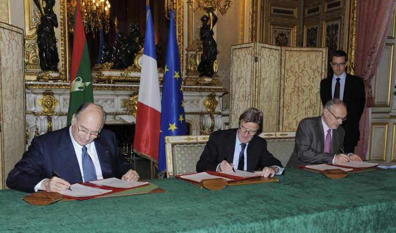 The Ismaili Flag and the Flag of the Ismaili Imamat at France agreement with Aga Khan, Barakah article