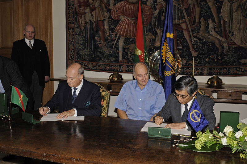 The Ismaili Imamat Flag agreement Asian Development Bank, Aga Khan Develpment Network