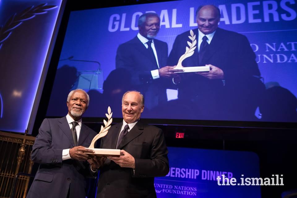 Kofi Annan and Aga Khan