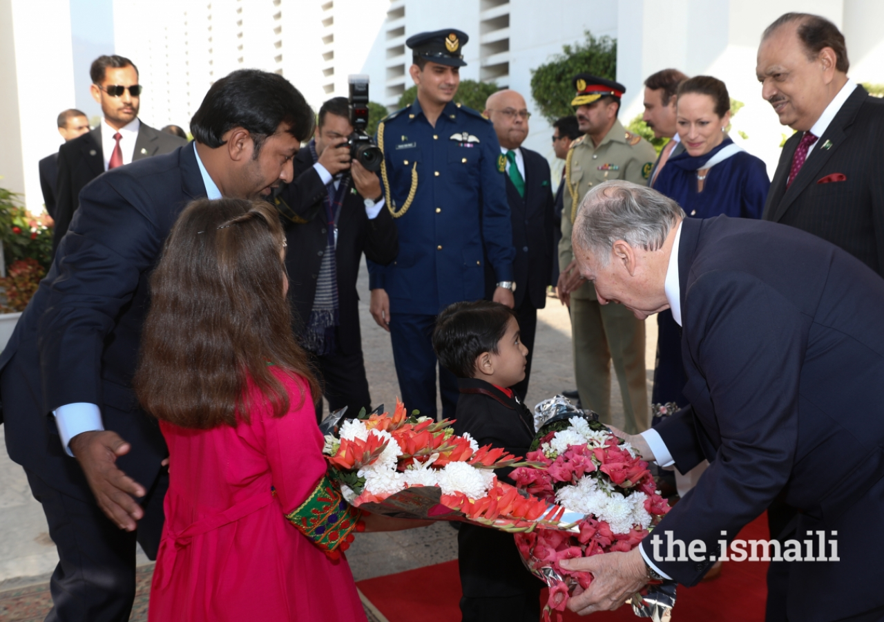 Aga Khan at Presidential Palace Pakistan Diamond Jubilee