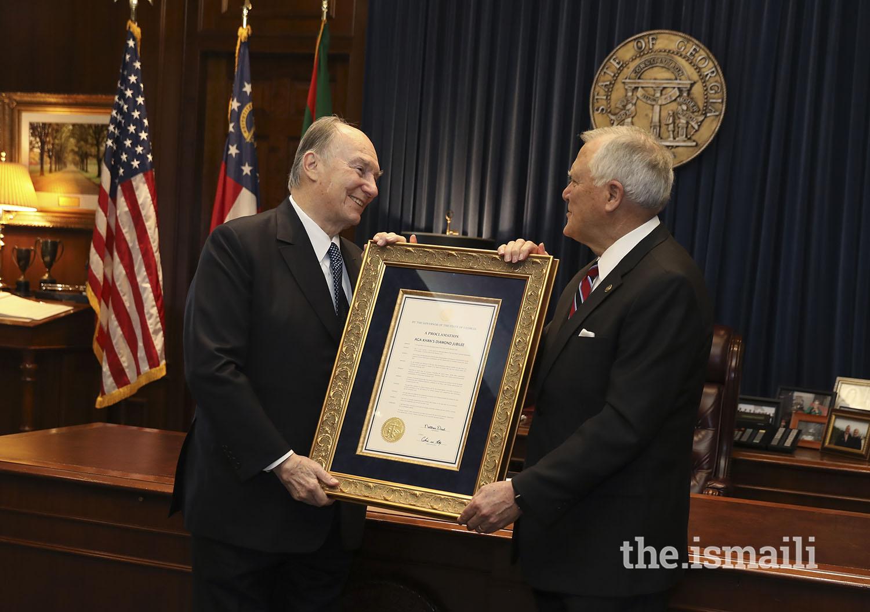 Aga Khan proclamation State of Georgia Diamond Jubilee Barakah Malik Merchant