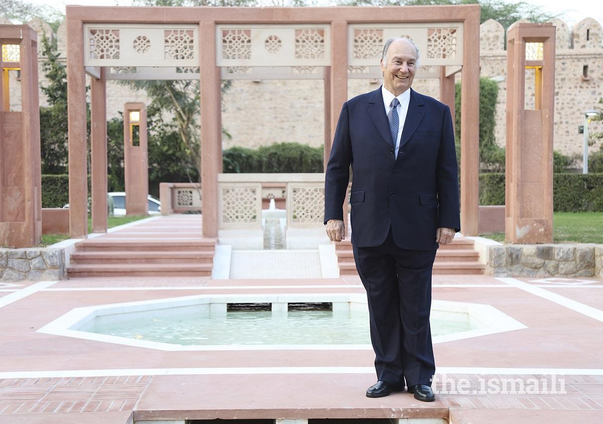 Aga Khan portrait at Sunder Nursery Diamond Jubilee visit Barakah