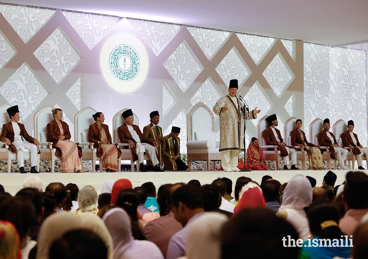 Aga Khan and members of his family at his Diamond Jubilee in Lisbon, Barakah