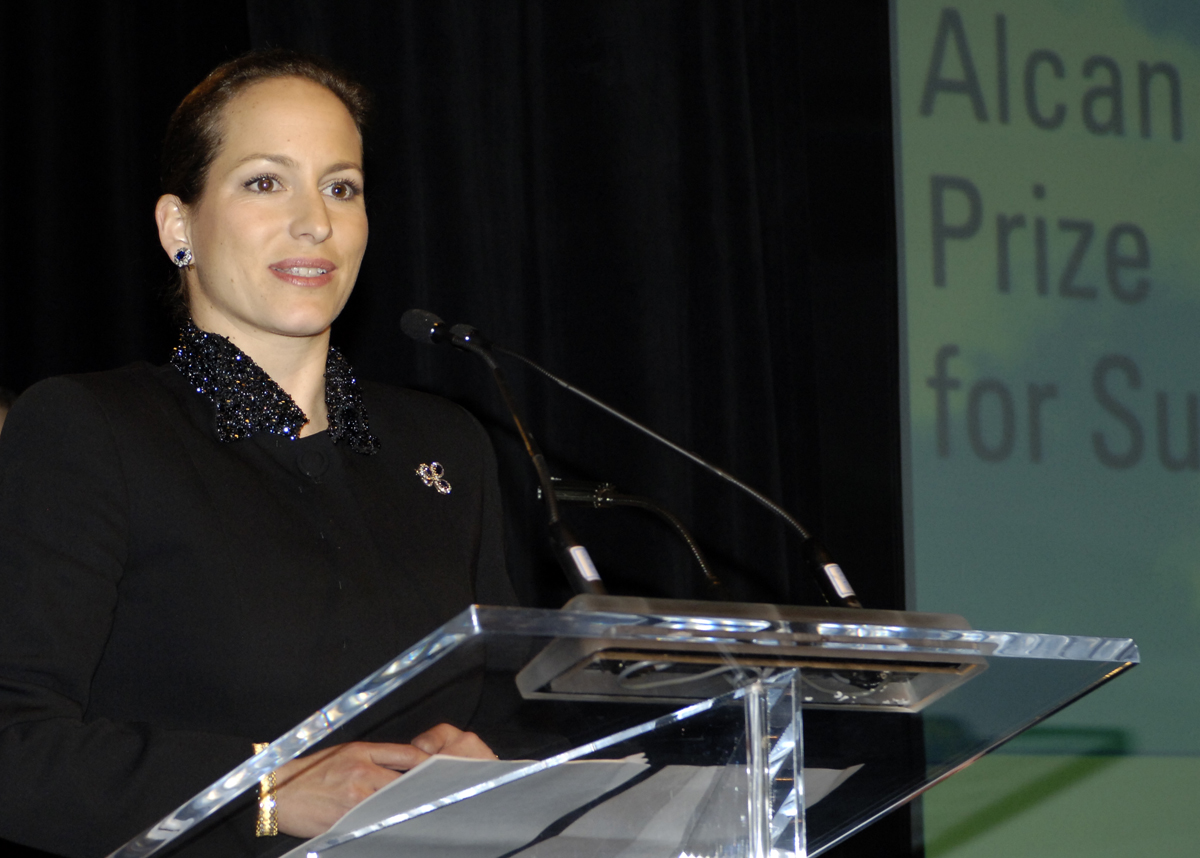 Princess Zahra Aga Khan addresses the gathering at the Alcan Prize for Sustainability ceremony held in Vancouver on March 2, 2006 Barakah