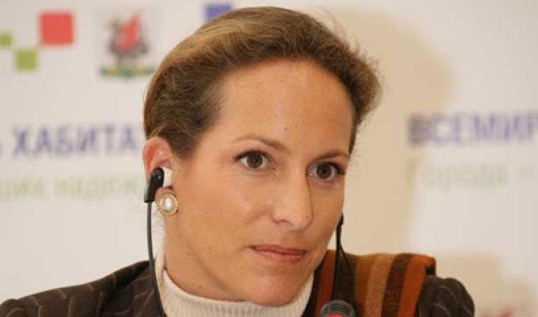 Princess Zahra Aga Khan at the Press Conference at the World Habitat Day celebrations in Kazan, 4 October 2006.