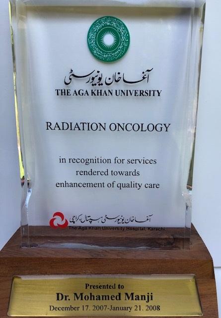 Aga Khan University plaque