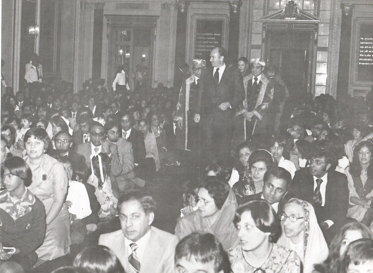 Aga Khan in Ottawa 1978 with Ismaili community, Barakah