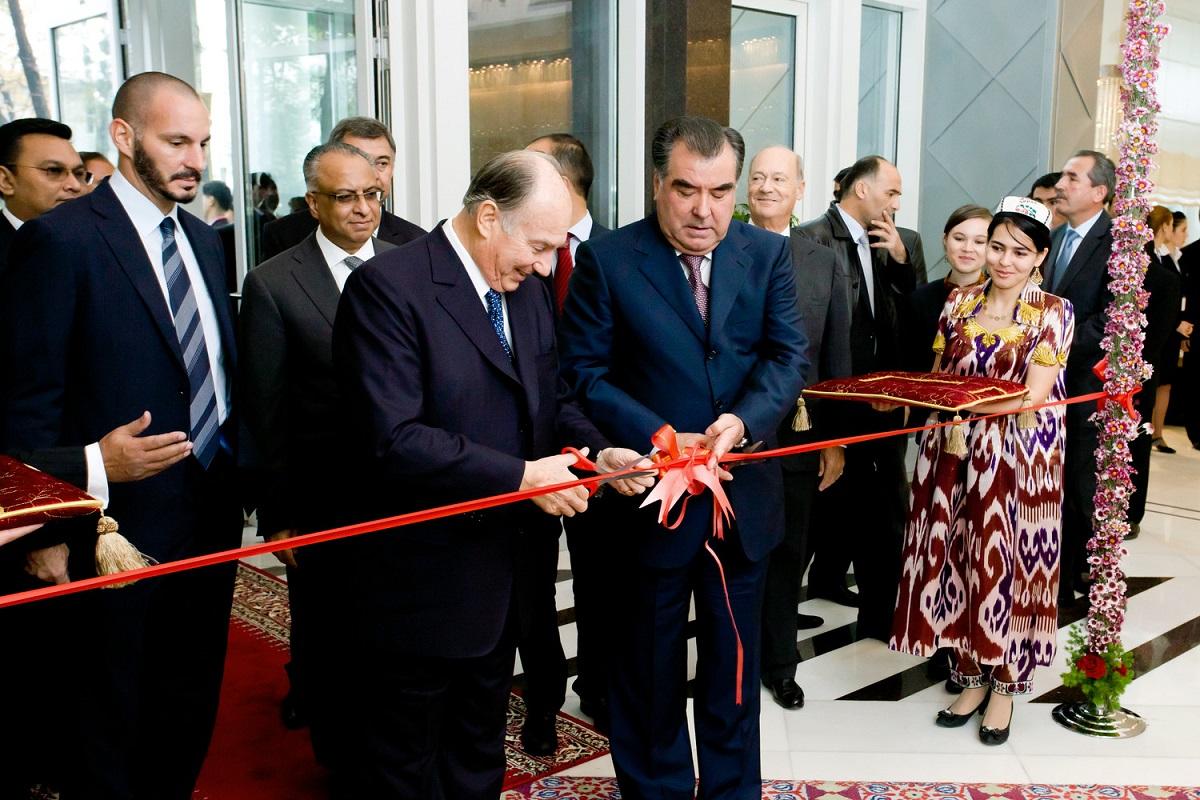 Aga Khan opening Serena Hotel Dushanbe barakah.com tribute to prince rahim aga khan