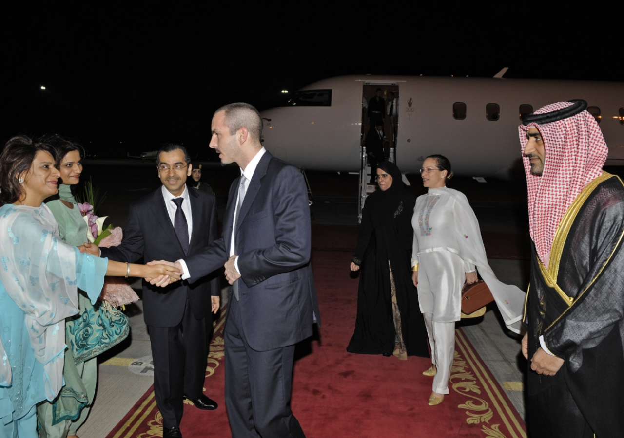Prince Rahim and Princess Zahra in Abu Dhabi barakah.com tribute to prince rahim aga khan