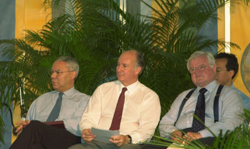 June 26, 2002: His Highness the Aga Khan and (Late) US Secretary of State Colin Powell Launch Smithsonian Folklife's Silk Road Festival