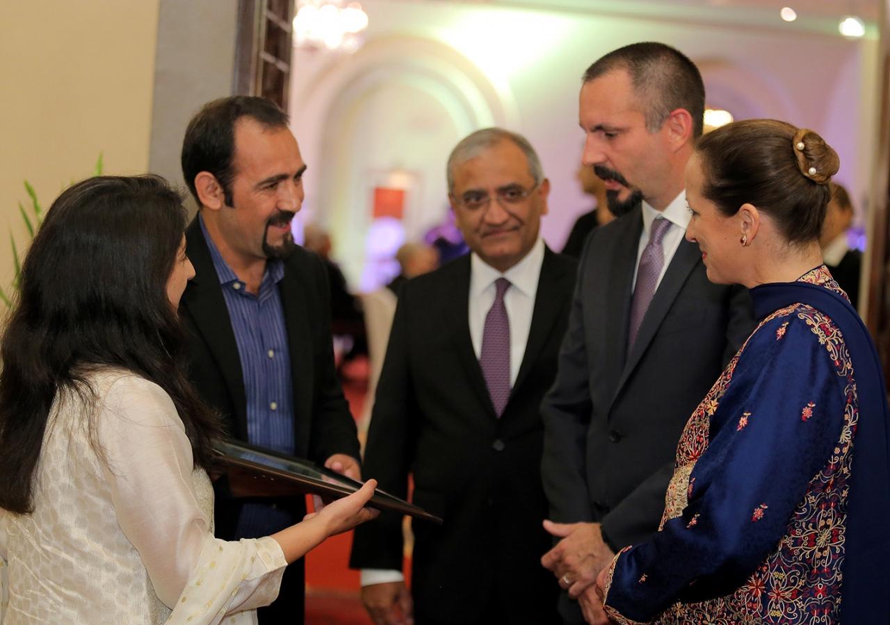 Ismaili mountaineers with Prince Rahim and Princess Zahra Barakah barakah.com tribute to prince rahim aga khan