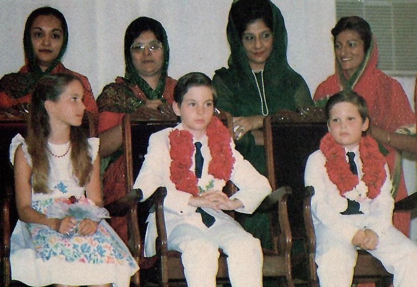 Prince Rahim Aga Khan with his sister Princess Zahra and brother Prince Hussain in Kenya in 1981, Barakah